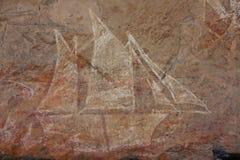 Тряхните искусство на Ubirr, национальном парке kakadu, Австралии Стоковые Изображения RF