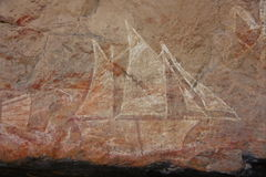 Тряхните искусство на Ubirr, национальном парке kakadu, Австралии Стоковое фото RF