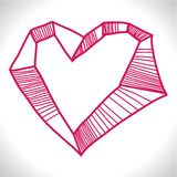 Тряхнутое сердце иллюстрация вектора