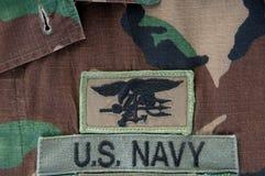 трёхзубец уплотнения военно-морского флота camoflauge Стоковые Фотографии RF