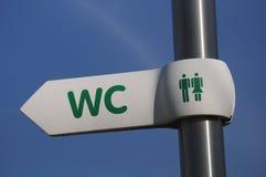 туалеты знака стоковое изображение
