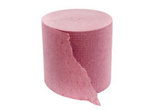 туалет бумаги розовый Стоковое Изображение