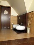 туалет ванной комнаты самомоднейший стоковые фотографии rf