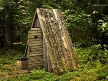 туалет деревянный стоковые фотографии rf