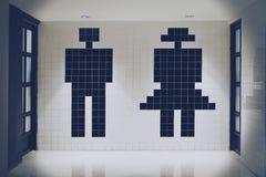 Туалет знака значка человека и женщины стоковое фото rf