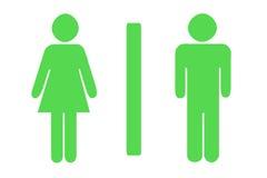 туалет знака Стоковые Изображения RF
