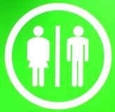 туалет знака Стоковая Фотография