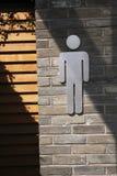 туалет мужчины входа Стоковая Фотография