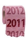 туалет пинка бумаги принципиальной схемы Стоковое Фото