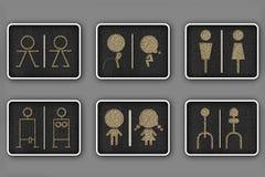 туалет символов Стоковое Изображение
