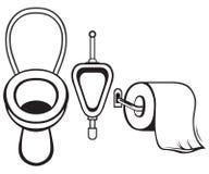 Туалетная бумага и туалет иллюстрация вектора