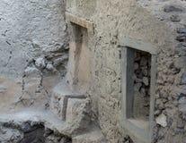 Туалет верхнего этажа места раскопк Akrotiri стоковое изображение