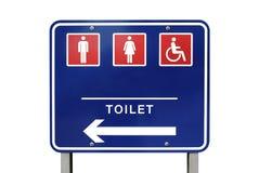 туалет знака направления Стоковое Изображение