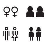 Туалет, значки уборного бесплатная иллюстрация