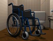 Туалет кресло-коляскы доступный иллюстрация вектора