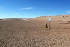 Туалет подписывает внутри пустыню Стоковая Фотография