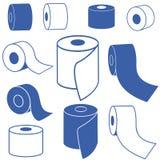 туалет продуктов бумаги гигиены чистки домашний иллюстрация вектора