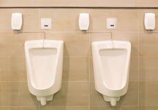 Туалет людей писсуара Стоковое фото RF