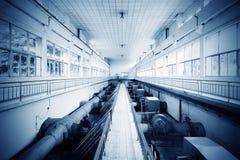 Тубопровод завода по обработке нечистот стоковое фото