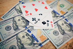 тузы чешут играя покер 4 Стоковые Изображения RF