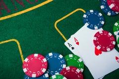 туз 2 в игре в покер Стоковая Фотография