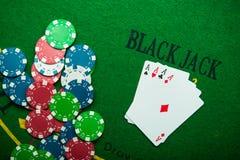 туз 4 в игре в покер Стоковые Фотографии RF