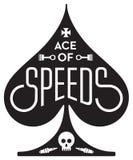 Туз скоростей мотоцикла или дизайна гонок автомобиля иллюстрация вектора