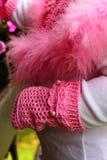 Тумак вязания крючком розовый Стоковые Фото