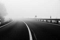 Туманная земля Стоковая Фотография