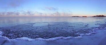 туманная зима утра Стоковое фото RF