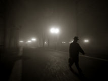 туманная ноча стоковая фотография rf
