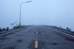Туманная дорога Стоковое фото RF