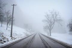 туманная дорога Стоковое Изображение