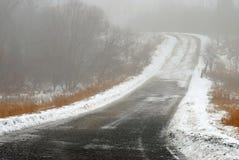 туманнейшая дорога Стоковое Изображение RF