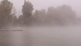 туманнейшее утро озера Стоковые Фотографии RF