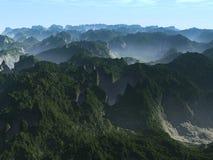туманнейшие горы Стоковая Фотография