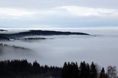 туманнейшие горы Стоковая Фотография RF