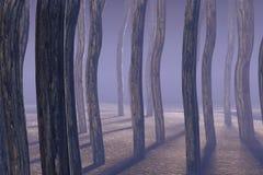 туманнейшие древесины иллюстрация вектора