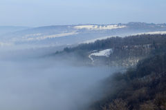 туманнейшие холмы Стоковое фото RF