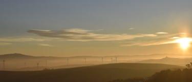 туманнейший восход солнца Стоковые Фотографии RF