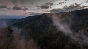 туманнейший заход солнца Стоковые Изображения RF