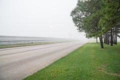 Туманное дорожное движение Стоковое фото RF