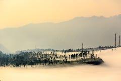Туманное и туманное утро Стоковое Изображение