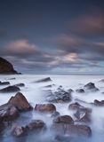туманное море утесов Стоковое Изображение