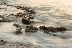 туманное море утесов Стоковое Изображение RF