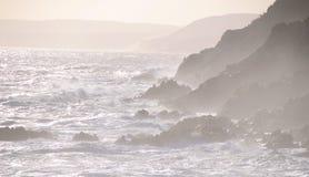 Туманное побережье трассы сада в Южной Африке Стоковые Фото