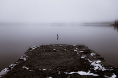 Туманное река стоковые фотографии rf