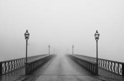 туманное утро stockholm Стоковые Изображения