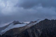 Туманные горы Карпат после дождя лета стоковые фото