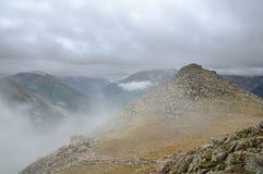 Туманные горы Колорадо Стоковая Фотография